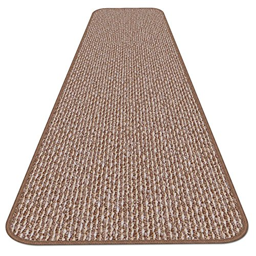 10 Feet X 27 Inches – Praline Brown – House, Home and More Skid-Resistant Carpet Runner