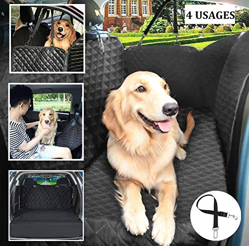 Pecute Dog Seat Cover 100% Waterproof Car Seat Covers for Pets Scratch Proof Back Seat Cover Nonslip Dog Car Hammock, Car Seat Covers for Dogs, Dog Backseat Cover for Cars Trucks SUV