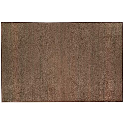 RUGGABLE Washable Stain Resistant Indoor/Outdoor, Kids, Pets, and Dog Friendly Accent Rug 3'x5′ Solid Textured Espresso