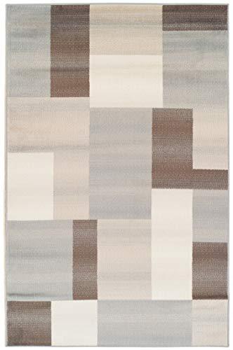 Superior Elegant Clifton Area Rug Rectangular TileModern Pattern, 9′ X 12′, Multi-Colored