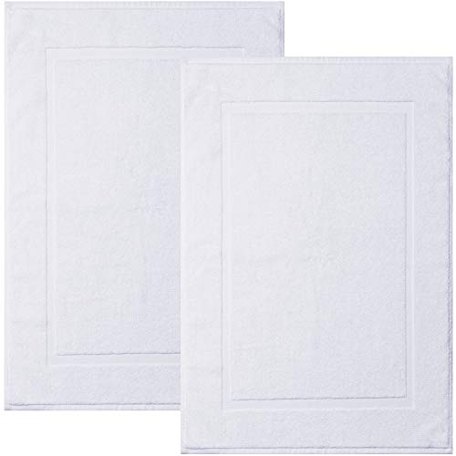 White 20 X 30 – Alibi Towel Bath Mats | 2 Pack | Hotel & Spa Shower Step Out Floor Towels NOT a Bathroom Rug