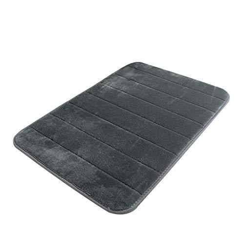 MEIHUALU Multi-Purpose Doormats Absorbent Soft Memory Foam Mat Bath Bathroom Bedroom Floor Shower Rug Decor Gray