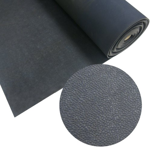 """Rubber-Cal""""Tuff-n-Lastic"""" Rubber Runner Mat – Black – 1/8 inches x 48 inches x 2ft Rolled Rubber Flooring"""