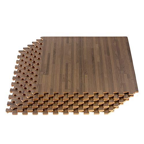 FOREST FLOOR 5/8 Inch Thick Printed Foam Tiles, Premium Wood Grain Interlocking Foam Floor Mats, Anti-Fatigue Flooring, 24 in x 24 in