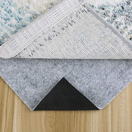 "MAYSHINE 2′ x 8′, 1/4"" Thick, Basics Felt + Rubber Non Slip Rug Pad,Safe for All Floors and Finishes,Keep Safe and in Place for Area Rugs Softens Carpet and Prevents Slipping"