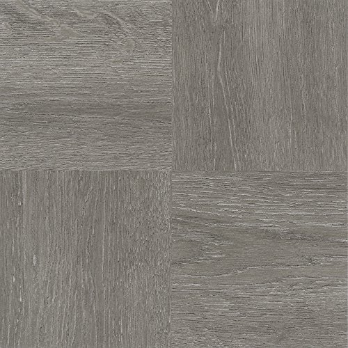 Achim Home Furnishings FTVWD22920 Nexus Self Adhesive 20 Vinyl Floor Tiles, 12″ x 12″, Charcoal Grey Wood, Piece