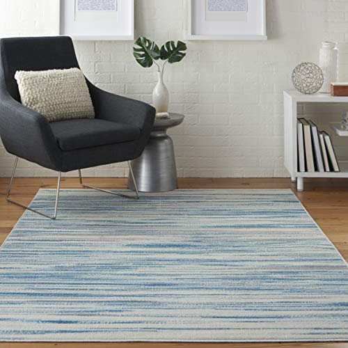 Nourison Jubilant Modern Coastal Blue Area Rug 6′ x 9