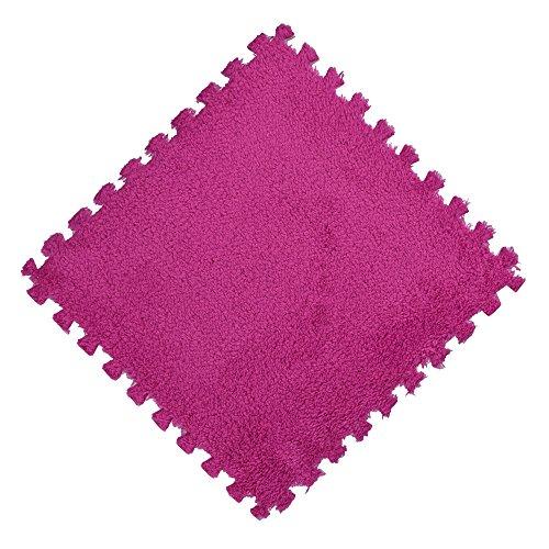 Quaanti 25X25cm Kids Carpet Foam Puzzle Mat EVA Shaggy Velvet Baby Eco Floor 7 Colors 2018 Bathroom Badroom Set Carpet Floor Mats Hot Pink