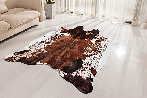 Synthetic, Cruelty-Free Animal Hide Carpet with No-Slip Backing – NativeSkins Faux Cowhide Rug Large 4.6ft x 6.6ft – Cow Print Area Rug for a Western Boho Decor