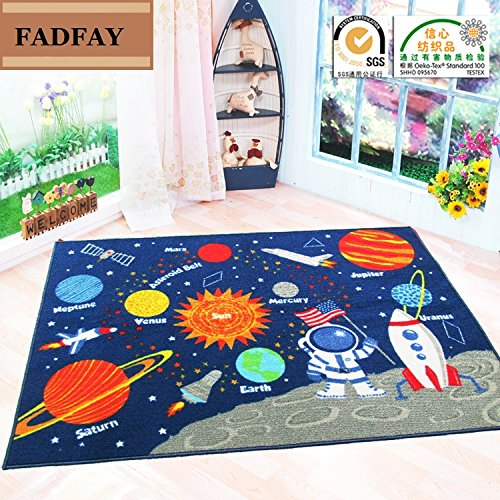"FADFAY Outer Space Kids Rug Cute Kids Room Carpet 39""52"""