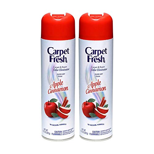 Carpet Fresh No-Vacuum Carpet Cleaner Aerosol, Apple Cinnamon, 10.5 Ounce Pack of 2
