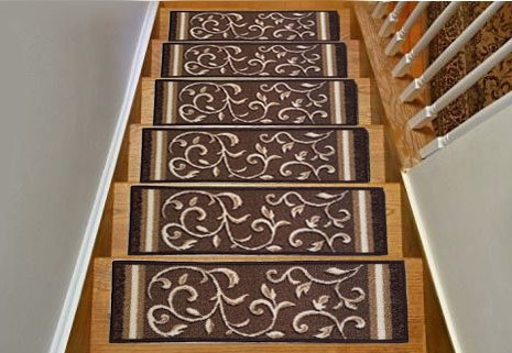 Skid Resistant Carpet Stair Treads Work Great On Most Hard Surfaces Including Wood More Secure Tile And Marble These Feature A Thick