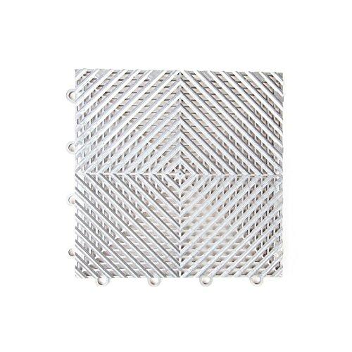 52-12″x12″ Tiles – IncStores Vented Nitro Garage Tiles 12″x12″ Interlocking Garage Flooring Gunmetal