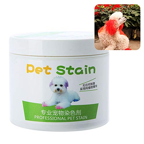 Acamifashion 100ml Cat Dog Professional Pet Stain Anti Allergic Hair Dye Cream Coloring Agent Flame Red