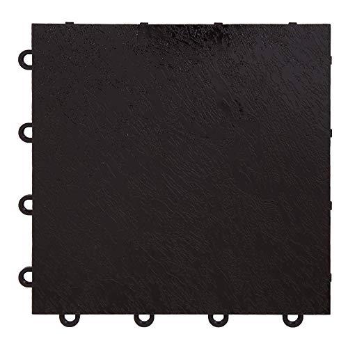 IncStores Black 12″ x 12″ Practice Dance Tiles 40-12″x12″ Tiles