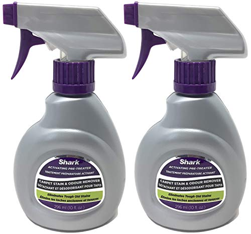Shark 10oz Activating Pretreater Carpet Stain and Odor Remover Spray Bottle for Sonic Duo, 2-Pack