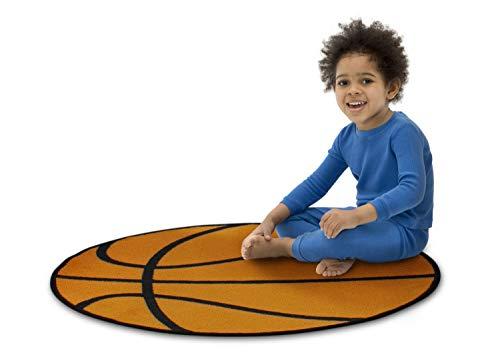 Delta Children Non-Slip Area Rug for Boys, Basketball