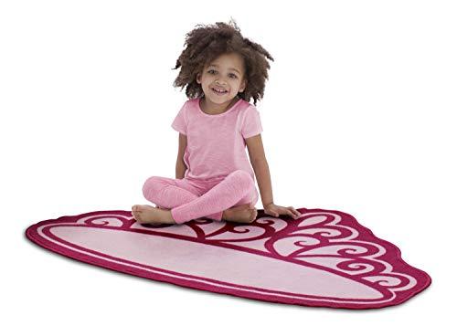 Delta Children Non-Slip Area Rug for Girls, Princess