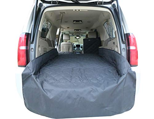 Plush Paws Waterproof Cargo Liner with Bumper and Side Panels, Extra Large Black