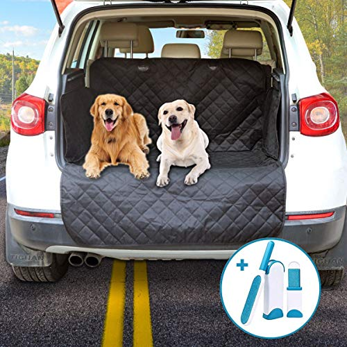 Arkmiido Dog Cargo Cover Mat with Side Walls Protector for SUV, Waterproof Cargo Liner for SUVs and Cars, Washable Durable Pet Cargo Liner – Universal Fit …