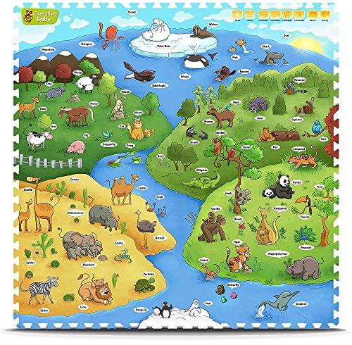 Creative Baby 9 Piece Interactive Playmat i-Mat, My Animal World