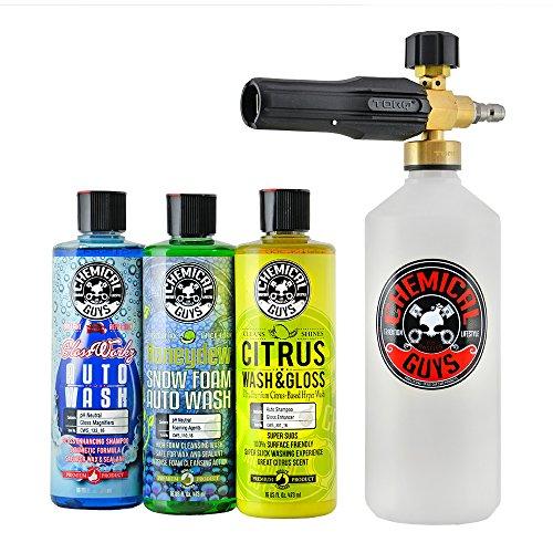Chemical Guys HOL145 TORQ Foam Cannon Snow FOAMER & 3 Premium Soaps, 16. Fluid_Ounces