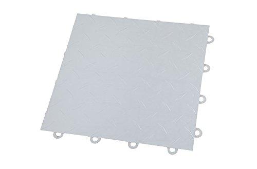 IncStores Nitro Garage Tiles 12″x12″ Interlocking Garage Flooring 1-12″x12″ Tile, Diamond Gunmetal