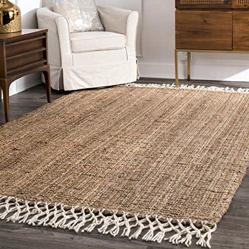 nuLOOM Raleigh Hand Woven Wool Rug, 3′ x 5′, Natural